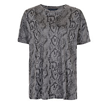 Buy French Connection Rainbow Snake T-Shirt, Grey Online at johnlewis.com