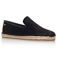Buy UGG Sandrinne Pony Hair Espadrilles, Black Online at johnlewis.com