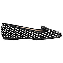 Buy L.K. Bennett Amy Loafers, Black/White Leather Online at johnlewis.com