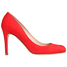 Buy L.K. Bennett Stila Court Shoes, Red Suede Online at johnlewis.com