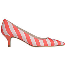 Buy L.K. Bennett Minu Court Shoes, Red/White Online at johnlewis.com