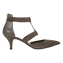Buy Mint Velvet Millie Pointed Court Shoes, Grey Suede Online at johnlewis.com