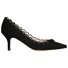 Buy L.K. Bennett Phoenix Scallop Edge Court Shoes, Black Online at johnlewis.com