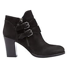 Buy Mint Velvet Peggy Buckle Detail Block Heeled Ankle Boots, Black Online at johnlewis.com