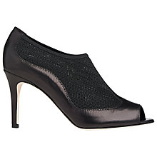 Buy L.K. Bennett Lara Peep Toe Shoe Boots, Black Leather Online at johnlewis.com