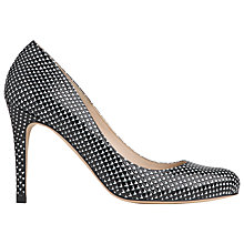 Buy L.K. Bennett Stila Court Shoes, Black/White Lizard Online at johnlewis.com