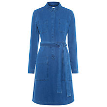 Buy Whistles Carrie Denim Shirt Dress, Blue Online at johnlewis.com