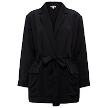 Buy Whistles Soft Belted Wrap Jacket, Black Online at johnlewis.com