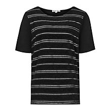 Buy Reiss Celia Sheer Stripe Top Online at johnlewis.com