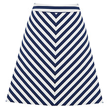 Buy Oasis Stripe A-Line Skirt, Blue/White Online at johnlewis.com