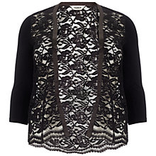 Buy Studio 8 Leona Lace Cardigan, Black Online at johnlewis.com
