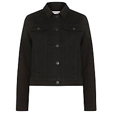 Buy Whistles Classic Denim Jacket, Black Online at johnlewis.com