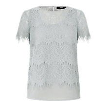Buy Oasis The Faith Top, Pale Grey Online at johnlewis.com