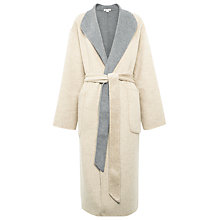 Buy Whistles Split Seam Wrap Coat, Beige Online at johnlewis.com