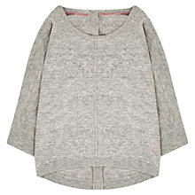Buy Jigsaw Junior Girls' Button Back Jumper, Grey Online at johnlewis.com