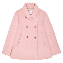 Buy Jigsaw Junior Girls' Wool Pea Coat, Pink Online at johnlewis.com