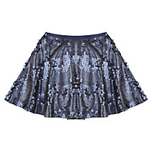 Buy Jigsaw Junior Girls' Sequin Skater Skirt, Navy Online at johnlewis.com