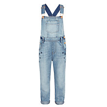 Buy John Lewis Girls' Star Print Denim Dungarees, Blue Online at johnlewis.com