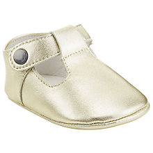Buy John Lewis Leather T-Bar Booties, Gold Online at johnlewis.com