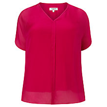 Buy Studio 8 Tessa V-Neck Blouse, Fuchsia Online at johnlewis.com
