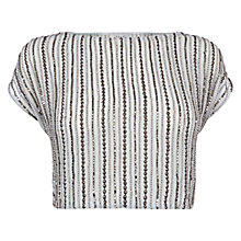 Buy Coast Rhiannon Embellished Top, Almost White Online at johnlewis.com
