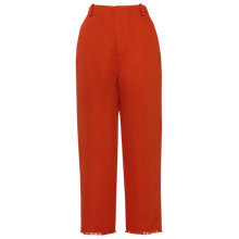 Buy Whistles Frayed Hem Wide Leg Trousers, Red Online at johnlewis.com