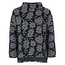 Buy French Connection Lily Jacquard Top, Grey Multi Online at johnlewis.com
