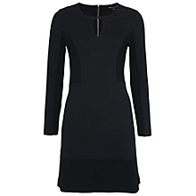 Buy French Connection Manhattan Dress, Black Online at johnlewis.com