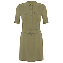 Buy Miss Selfridge Super Soft Dress, Khaki Online at johnlewis.com