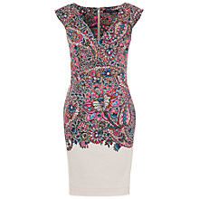Buy French Connection Sundown Dress, Ziggy Pink Muilti Online at johnlewis.com