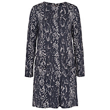 Buy French Connection Northern Boa Dress, Mercury Mist Online at johnlewis.com