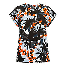 Buy Whistles Frou Frou Floral Silk Top, Multi Online at johnlewis.com