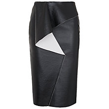 Buy French Connection Slick Skirt, Black/White Online at johnlewis.com