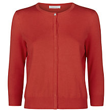 Buy Kaliko Grosgrain Trim Cardigan, Bright Red Online at johnlewis.com