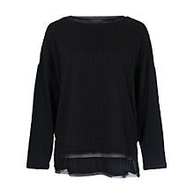 Buy French Connection Winter Snake Long Sleeve Top, Black Online at johnlewis.com