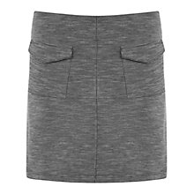 Buy Miss Selfridge Texture A-Line Skirt, Grey Online at johnlewis.com