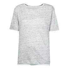 Buy Whistles Marl Chiffon Hem T-Shirt, Grey Marl Online at johnlewis.com