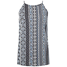 Buy Miss Selfridge Aztec High Neck Camisole, Blue Online at johnlewis.com