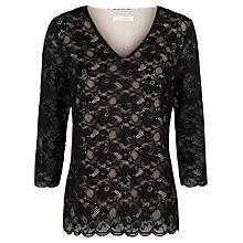Buy Kaliko Contrast Lining Top, Multi Black Online at johnlewis.com