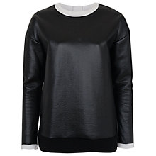 Buy French Connection Slick Top, Black/White Online at johnlewis.com