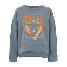 Buy French Connection Rock Royalty Sweatshirt, Hurricane Grey Online at johnlewis.com