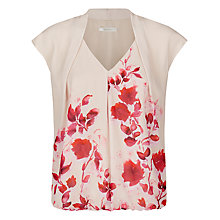 Buy Kaliko Oriental Bloom Print Blouse, Multi Red Online at johnlewis.com