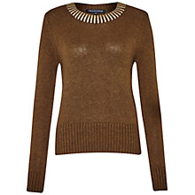 Buy French Connection Ruby Jumper, Turtle/Gold Online at johnlewis.com