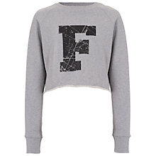 Buy French Connection Cropped Sweater, Light Grey Online at johnlewis.com