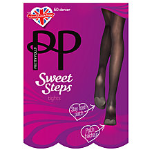 Buy Pretty Polly Sweet Steps Opaque Tights, Black Online at johnlewis.com