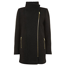 Buy Mint Velvet Boucle Biker Coat, Black Online at johnlewis.com