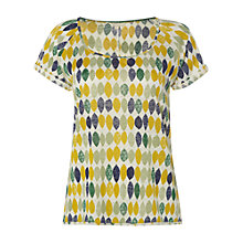 Buy White Stuff Pippa Print Linen T-Shirt, Bright Green Online at johnlewis.com