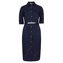 Buy Ted Baker Midi Utility Shirt Dress, Blue Online at johnlewis.com