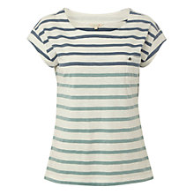 Buy White Stuff Betty Stripe T-Shirt, Teal Online at johnlewis.com