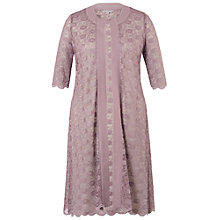 Buy Chesca Scallop Lace Coat, Dark Lavender Online at johnlewis.com